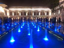 Water Lights. Pond of Shopping mole arcade colombo Stock Photo