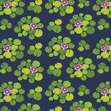 Water lilies pattern background. Water lilies vector pattern background Stock Image