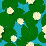 Water lilies pattern Stock Image