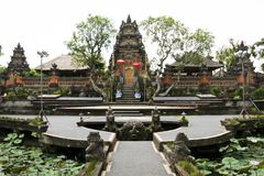 Saraswati temple ubud bali indonesia Royalty Free Stock Images