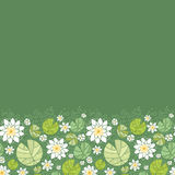 Water lillies horizontal seamless pattern Stock Photography