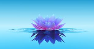 Water Lily Abstract Fantasy Background royalty-vrije illustratie