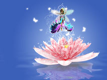 Water Lily fairy Royalty Free Stock Photography