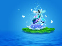 Water Lily fairy Stock Images