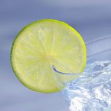 Water with lime Royalty Free Stock Photography
