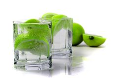 Water with lime Stock Photography