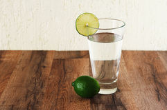 Water with lime Stock Images