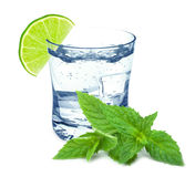 Water with lime Royalty Free Stock Photos