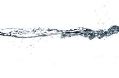 Water line. Closeup of water line isolated on white Stock Image