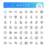 Water Line Icons Set Royalty Free Stock Photos