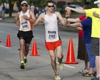 Water. Line at the 2013 Peoria IL Marathon Stock Photos