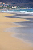 Water line, Porto Santo beach Stock Photo