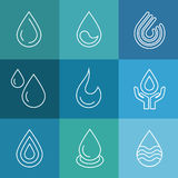 Water linear vector symbols Stock Image