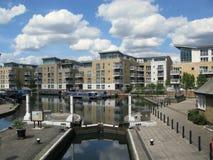 Water locks in Brentford Marina, London, UK Royalty Free Stock Photography