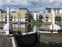 Water locks in Brentford Marina, London, UK Stock Images