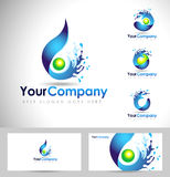 Water Logo Design Stock Photography