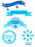 Water logo. Illustration drawing representing  water logo Stock Photos