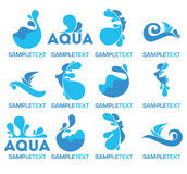 Water logo Stock Photos