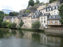 By the water in Luxembourg City. A shot showing the authentic charm of Luxembourg City by the water Royalty Free Stock Image