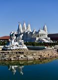 Water Maidens and the Mandir Royalty Free Stock Images