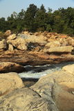 Water making way through rocks Royalty Free Stock Photo