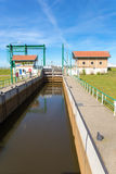 Water management Lemster lock in Friesland netherlands Royalty Free Stock Photo