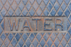 Water Manhole Cover Royalty Free Stock Photo