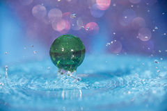 Water and Marbles Stock Photography