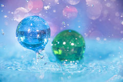 Water and Marbles Royalty Free Stock Photography