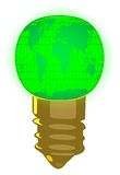 Water mark world bulb illustration and green Stock Photos