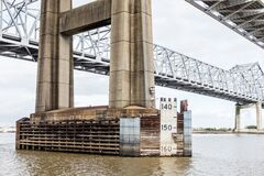 Free Water Marks On Mississippi River Bridge In New Orleans, Louisiana Royalty Free Stock Photography - 178736467