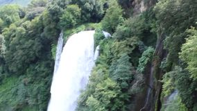 Waterfall Marmore stock video footage