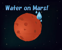 Water on Mars. Was found illustration Stock Photos