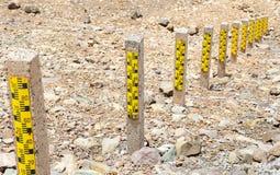 Water measuring pole Royalty Free Stock Image