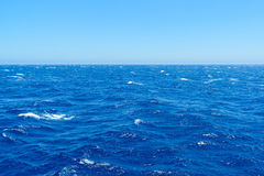 The water of  Mediterranean Sea on a bright day Stock Photography