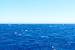 The water of Mediterranean Sea on  bright day Stock Photography