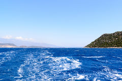 Water of Mediterranean Sea off Turkish coast Stock Photography