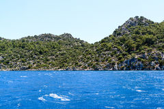 Water of Mediterranean Sea off Turkish coast Royalty Free Stock Image