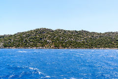 Water of Mediterranean Sea off Turkish coast Royalty Free Stock Images