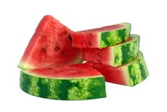 Water-melon. Slice of appetizing  water-melon on  white background Royalty Free Stock Photo