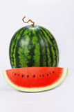 Water melon. And  a slice on white back ground Stock Photography