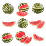 Water melon. S isolated on white background Stock Photos
