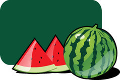 Water-melon. Icon of water-melon, vector illustration Royalty Free Stock Photo