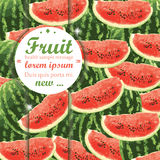 Water Melon Background Stock Photo