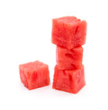 Water melon blocks stack up Royalty Free Stock Images