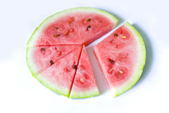 The water-melon chart Stock Photo