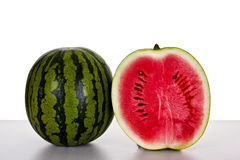 Water melon. Cut up in two pieces Royalty Free Stock Photos