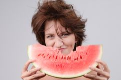 Water-melon diet Stock Photography