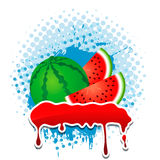 Water Melon grunge vector frame four your text. Water Melon grunge frame four your text Royalty Free Illustration
