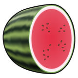 Water melon isolated on white background Stock Photos